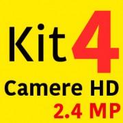 Sistem Supraveghere HD 4 Camere 2000LTV 2.4MP + Instalare Autorizata