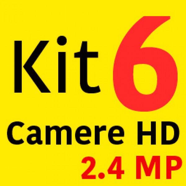 Sistem Supraveghere HD 6 Camere 2000LTV 2.4MP + Instalare Autorizata