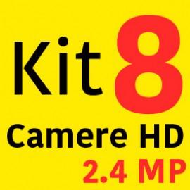 Sistem Supraveghere HD 8 Camere 2000LTV 2.4MP + Instalare Autorizata